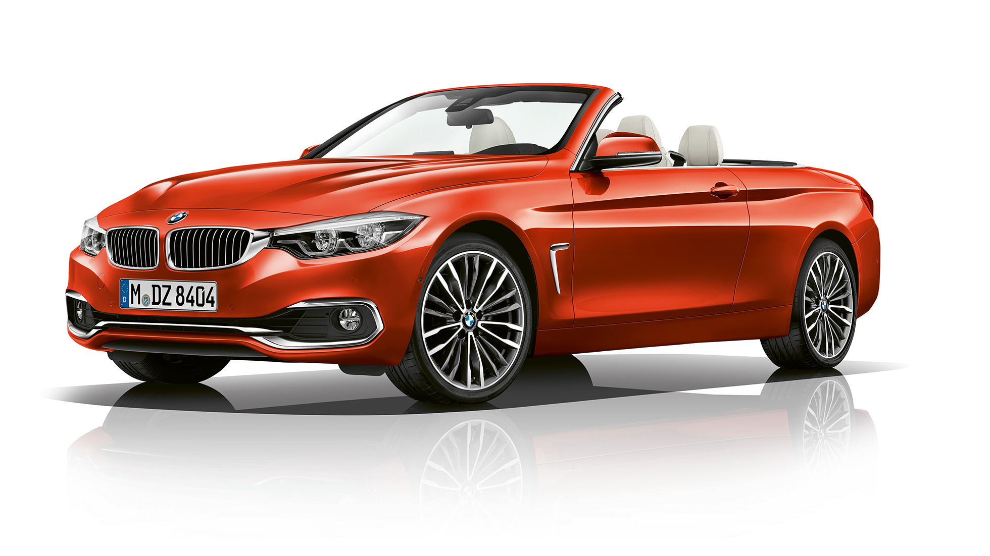 BMW 4 Serie Cabrio, Model Luxury Line driekwart vooraanzicht