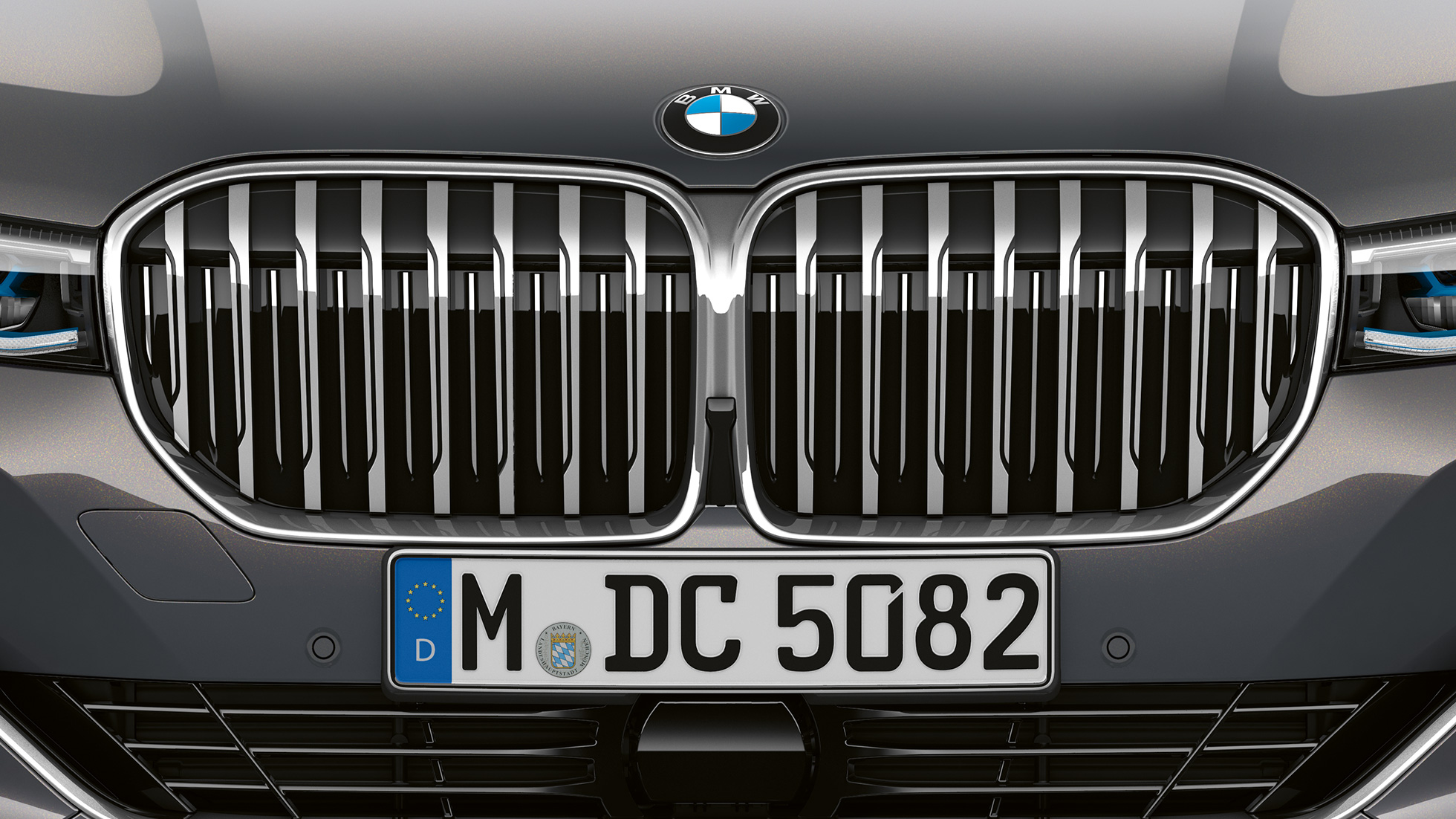BMW 7 Serie Sedan met exterieurdesign Pure Excellence: Close-up van de BMW nieren