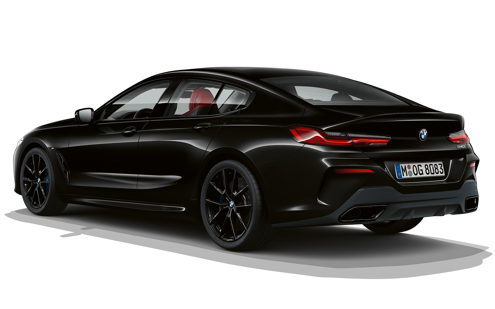 BMW 8 Serie Gran Coupé, Dark Seduction driekwart achteraanzicht