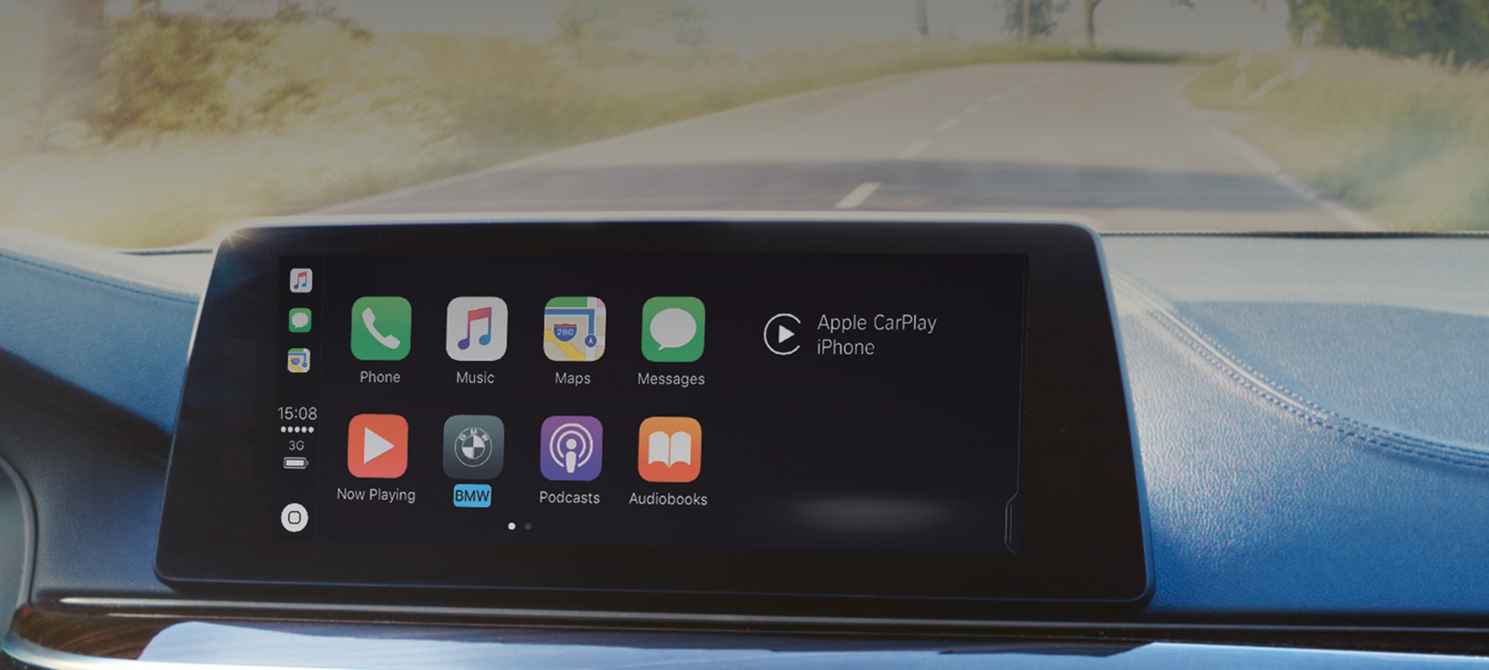Apple CarPlay® Smartphone Integratie menu in Control Display BMW ConnectedDrive
