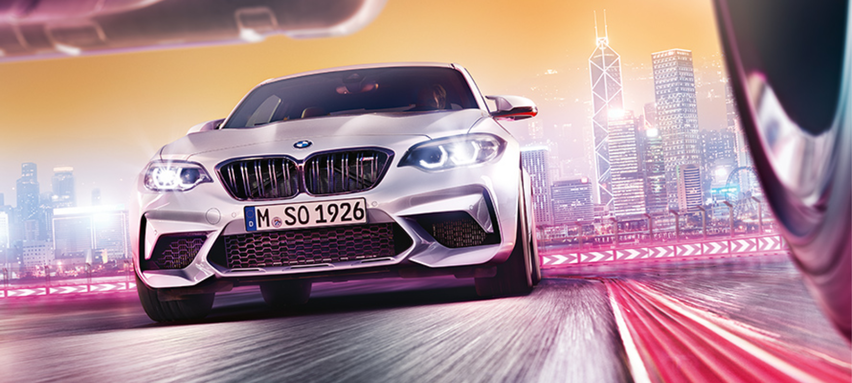 BMW M2 Competition F87 2018 Hockenheim Silver metallic vooraanzicht